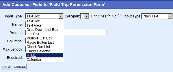 Custom Form Input Types